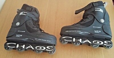 Anarchy Chaos Inline Aggressive Skates, UK Size 8,