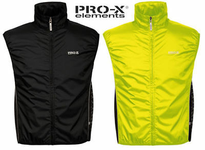 PRO-X elements Bike Weste Windprotector Radweste Laufweste winddicht Gr. S-2XL
