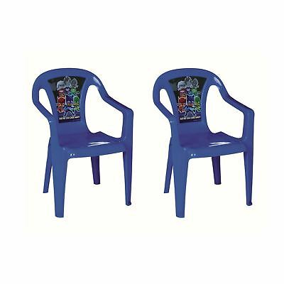 PJ Masks Set Of 2 Blue Kids Plastic Garden & Picnic Chairs