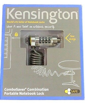NEW Kensington ComboSaver® Combination Portable Notebook Lock Factory Sealed