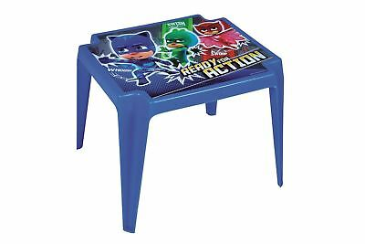 PJ Masks Kids Blue Plastic Table - For Indoors & Outdoors Garden, Patios, Picnic