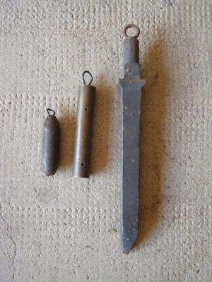 3 old pendulum weights