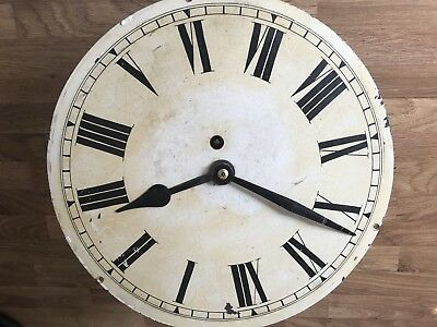 Fusee School / Station Clock Movement With 12 Inch Dial And Hands
