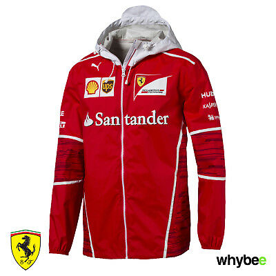 Sale! 2017 Official Scuderia Ferrari F1 Formula One Team Mens Jacket Coat by Pum
