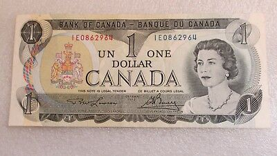 1973 Canada One Dollar Bill! Nice Canadian Currency Replaced By Loonie Coin