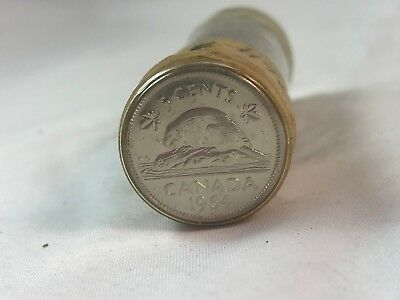 Roll Of 1964 Canada Five Cents Cent Coins ~ Foreign ~ (R3)