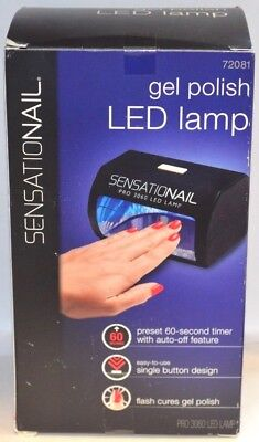 SENSATIONAIL PRO 3060 Gel Polish LED LAMP #72081 Flash Cure New In opened Box