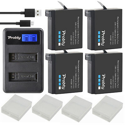 For Gopro HERO 4 HERO4 Black/HERO4 Silver Battery and Dual LCD Battery Charger