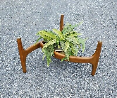 Vintage Mid Century Modern Adrian Pearsall Wood Coffee Table Base Plant Stand
