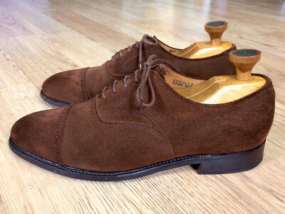 Vintage Bench Made England Cole Haan Brown Suede Dress Shoes! 8.5D