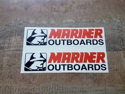 Mariner Outboards Fishing Boat Mirrored logo is free Vector Mercury