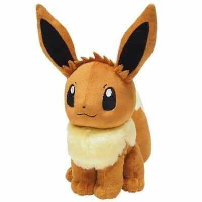 """Official Sanei PP51 Eevee 12.5"""" Stuffed Plush Toy Pokemon Go All Star Collection"""