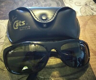 """Vintage Black """"CATS"""" style Ray Ban by Bausch & Lomb Sunglasses"""