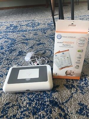 Prince Lionheart Grey Compact Wipes Warmer & Replacement Pillows
