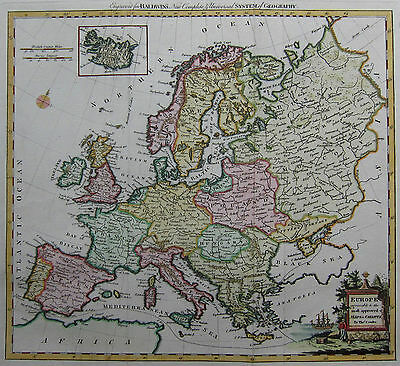 Europa - Conder / Baldwyn 1794 - Europe agreeable to the most approved Maps ...