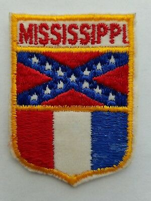 Vintage MISSISSIPPI Southern State Flag Patch Travel Souvenir From USA