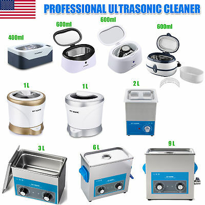 0.4L/0.6L/2L/3L/6L/9L Ultrasonic Cleaner Jewelry Timer Ultrasonic Washer Machine