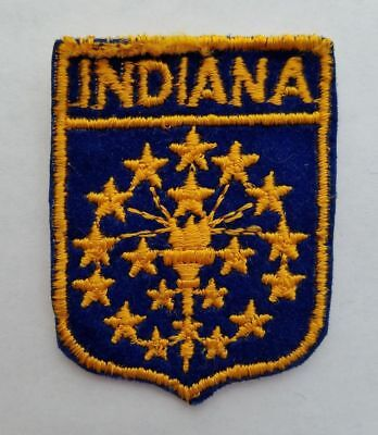 Vintage INDIANA Flag Patch State Travel Souvenir From USA