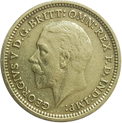 1934 Silver Coin - Threepence - George V.  /Very High Grade   #Js12