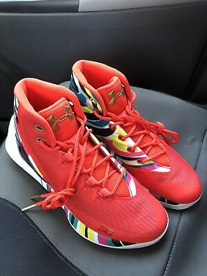 67e20b7dd869 NEW Mens Under Armour UA Steph Curry 3 SZ 9 Chinese New Year CNY 1269279-