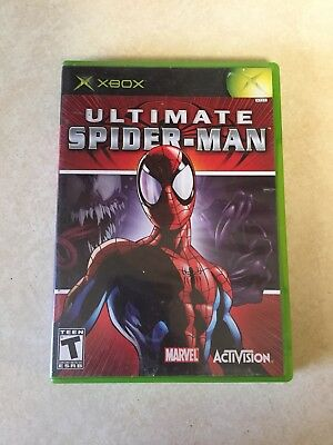 Ultimate Spider-Man GAME & CASE for original XBOX system VG TEEN KIDS SPIDERMAN