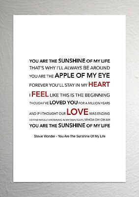 stevie wonder you are the sunshine of my life sound wave song
