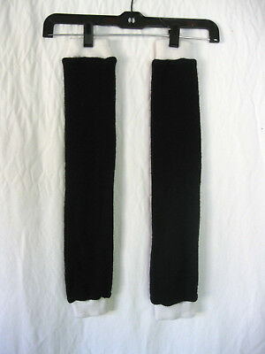 Cute Black/White 80's Style Over the Knee Leg Warmers Socks S/M/L