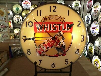 Whistle Soda Pop Lighted Pam Advertising Wall Clock