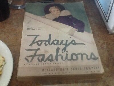 Chicago Mail order company FALL & WINTER CATALOG 1941-42 WW2