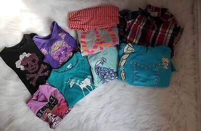 Lot of Fall/Winter Shirts Jackets Girl Size S 5/6 Gymboree, Crazy8, TCP
