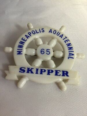 Minneapolis Aquatennial 1965 Skipper Pin