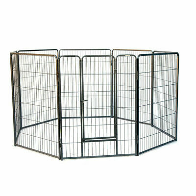 Flyline 8 Panels Dog Playpen Pet Pen Run Enclosure 43 Inches Height
