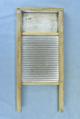 Antique HOUSEKEEPERS DELIGHT WASHBOARD TIN SURFACE LAUNDRY ROOM WASHING #05348