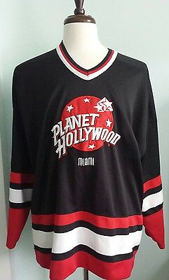 PLANET HOLLYWOOD MIAMI Polyester Jersey Size XL Red Black White