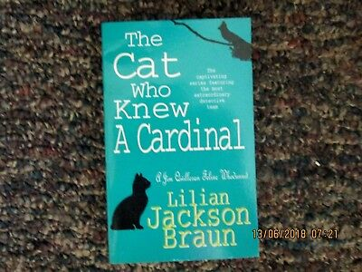 Cat Books Sb Book The Cat Who Knew A Cardinal By Lilian Jackson Braun