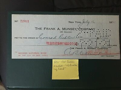 Conrad Richter - Famed Author- Check signed -   - LOOK