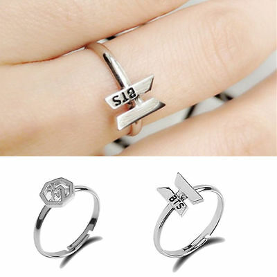 Hot!!! Kpop BTS Got7 Bangtan Boys Women Fashion Finger Ring Adjustable