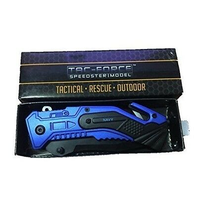 TAC-FORCE Spring Assisted EDC Tactical Folding Rescue Pocket Knife NEW