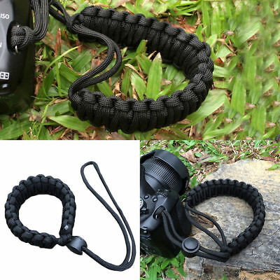 1x Simple Camera Adjustable Wrist Strap Bracelet Grip Weave Cord For Paracord