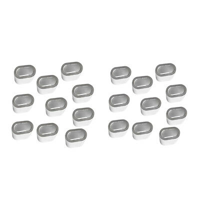 20Pcs Aluminum Cable Crimps Sleeves Cable Ferrule for 3mm 5mm Wire Rope