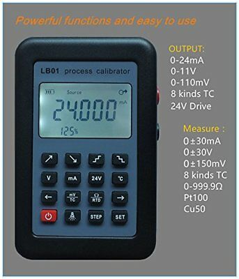 LB01 Current Voltmeter Signal Generator Source Calibrator 4-20mA/0-10V/mV w/LCD