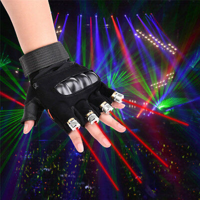 1Pcs Cool Laser Gloves Dancing Stage Show Light With 4 pcs lasers and LED