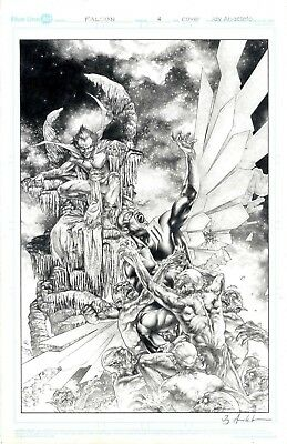 Falcon issue 4 cover by Jay Anacleto