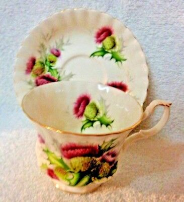 Royal Albert Highland Thistle Cup  and Saucer