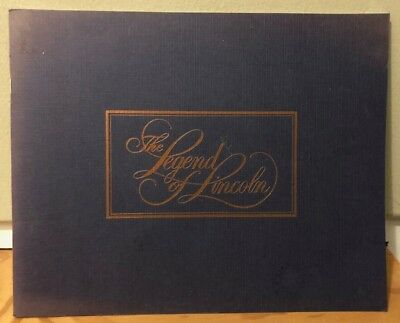 1986 The Legend Of Lincoln Book Ford Motor Company History Of Lincoln Automobile