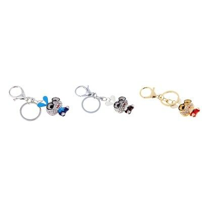 MagiDeal Fashion Design Rhinestone Cute Rabbit Crystal Keychain Bag Keychain