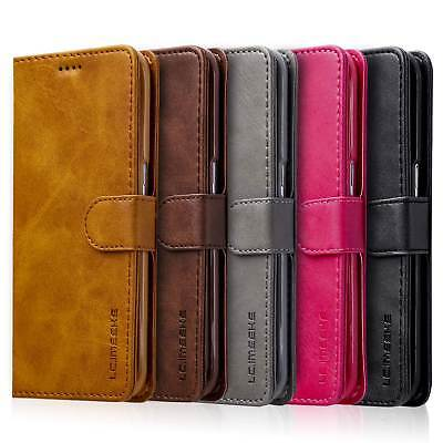 For Samsung Galaxy S9/S8/Plus Retro Leather Flip Wallet Stand Phone Case Cover