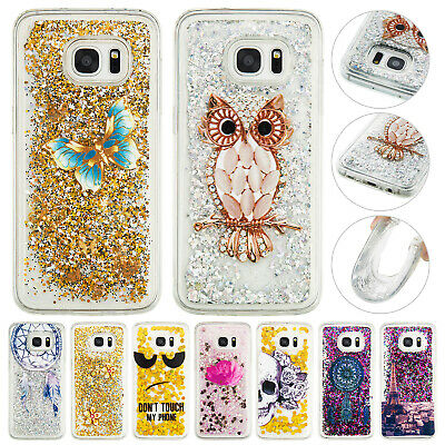 Glitter Liquid Quicksand Soft TPU Back Phone Case Cover For Samsung Galaxy S7 S8
