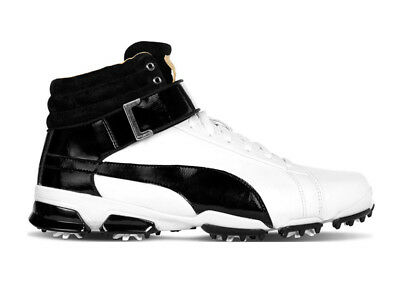 Puma Titan Tour Ignite Hi-Top Golf Shoes - White/Black