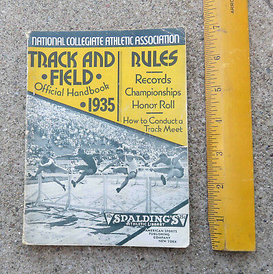 Original 1935 NCAA Spalding's Track and Field Official Handbook